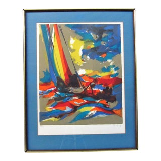 """""""Boats"""" by Marcel Mouly For Sale"""