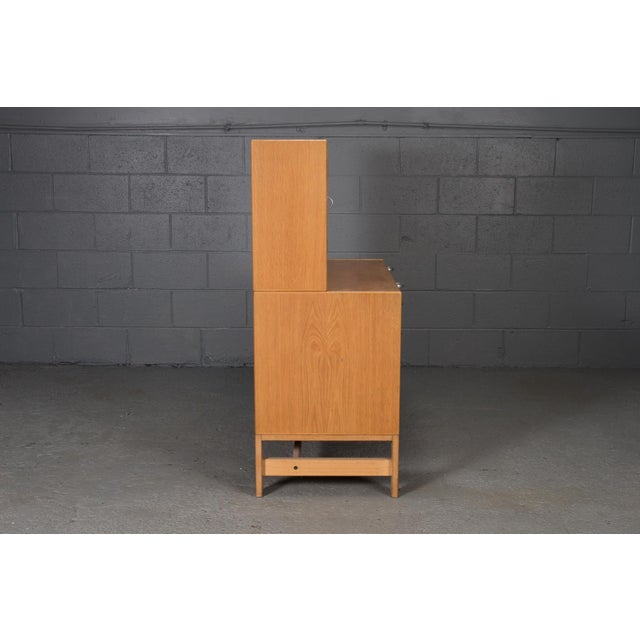 Danish Modern Danish Modern Oak Bookcase Unit and Chest For Sale - Image 3 of 9