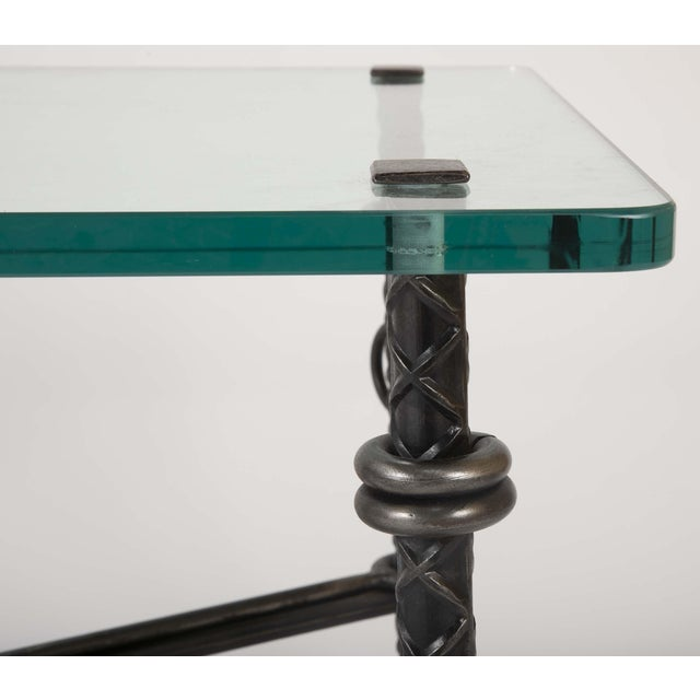 Traditional Patinated Wrought Iron Coffee Table by Llana Goor For Sale - Image 3 of 13