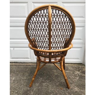 Final Price! Vintage Rattan Bentwood Fan Back Arm Chair Preview