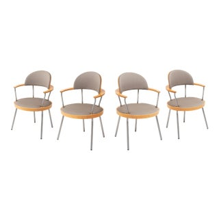 Vintage Postmodern Dining Chairs by Maya Lin for Knoll - Set of 4 For Sale