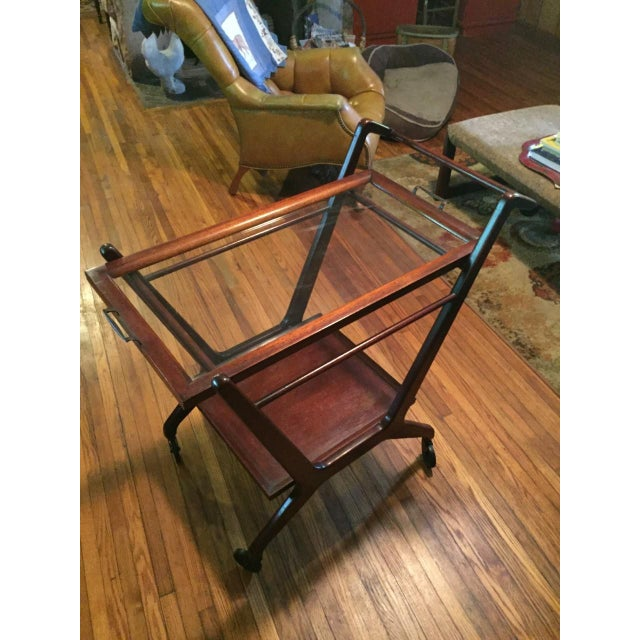 1950s Cesare Lacca Mid Century Modern Bar Cart - Image 3 of 6