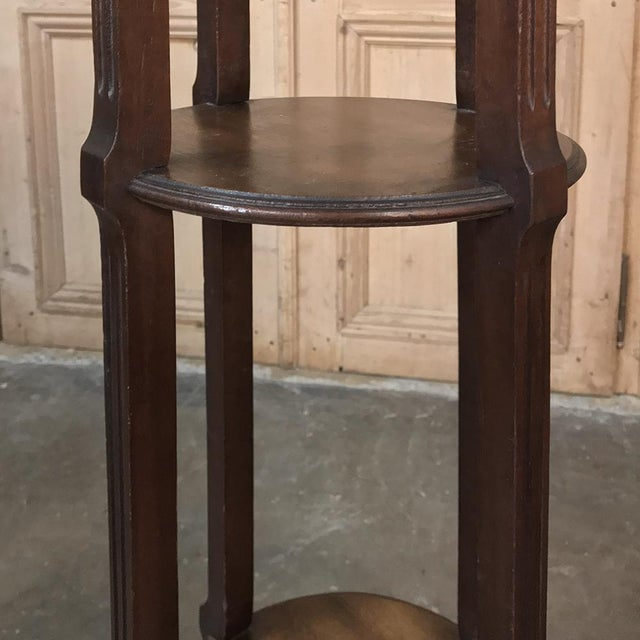 Gold 19th Century French Louis XVI Mahogany Pedestal With Bronze Mounts For Sale - Image 8 of 11