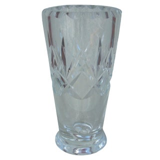 Orrefors Cut Clear Crystal Vase For Sale