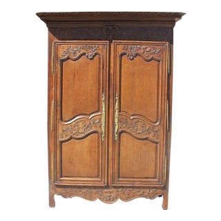 Monumental18th Century French Louis XV Solid Oak Armoires Period Chateau .
