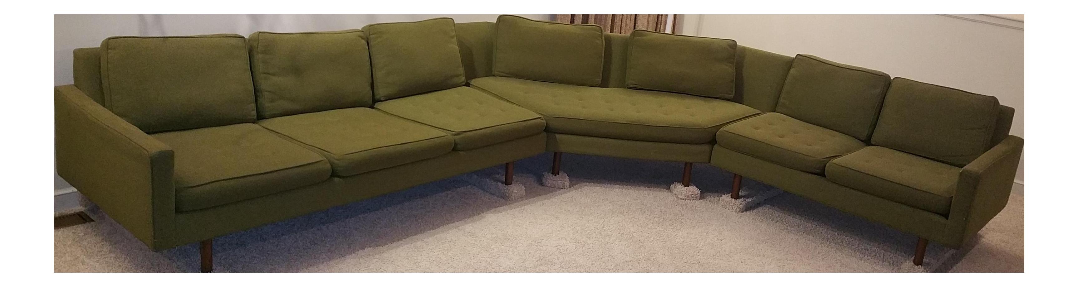 1964 Vintage Thayer Coggin 3 Piece Sectional Sofa Chairish