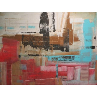 Abstract Acrylic Painting on Canvas by Jensen For Sale