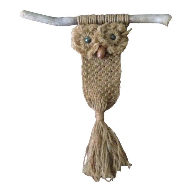 Vintage Macrame Owl - Image 1 of 11