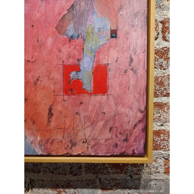 1990s Stephen Stoller Untitled Abstract Oil Painting on Canvas For Sale - Image 5 of 11