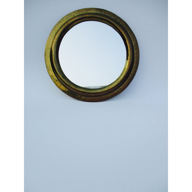 Round Brass Boho Mirrors - A Pair - Image 3 of 7