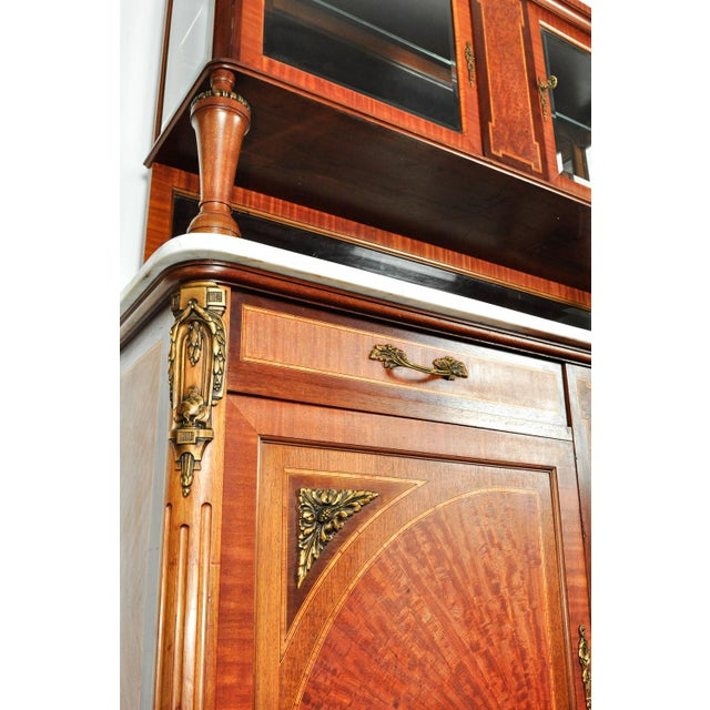 Antique Sandwood Mahogany Hutch or Cabinet For Sale - Image 10 of 13