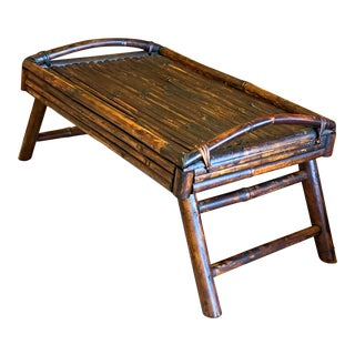 Antique Campaign Bamboo Bed Tray For Sale