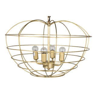 Mo Pendant in Antique Brass For Sale