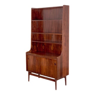 1960s Scandinavian Rosewood Bookcase For Sale