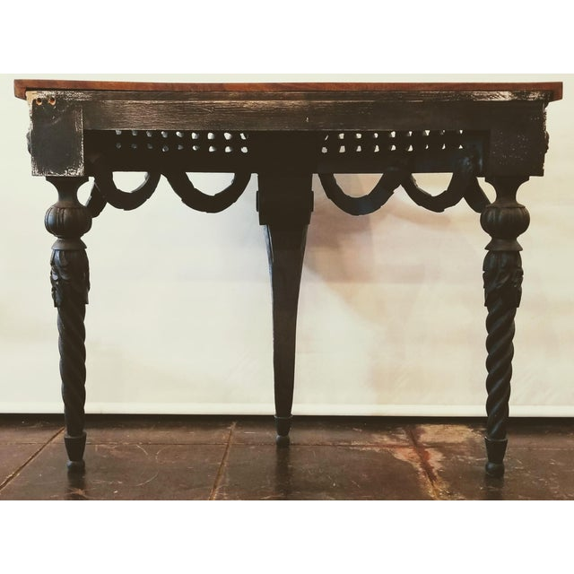 Italian Baroque Style Console Table With Shaped Cocobolo Top For Sale - Image 4 of 7