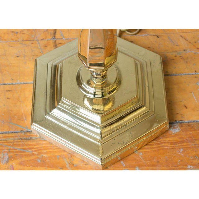 Polished Brass Floor Lamp from France For Sale - Image 5 of 8