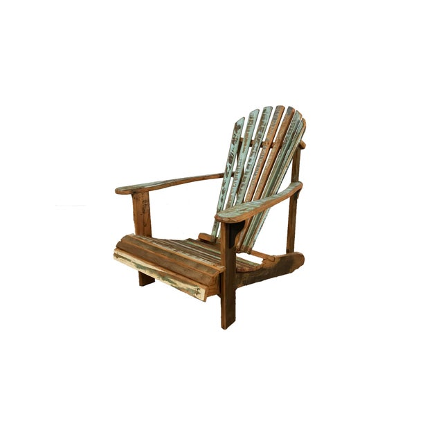 Sit back and relax in this sweet coastal chair! It's perfect for your lounge area or even outside by the pool or the fire...