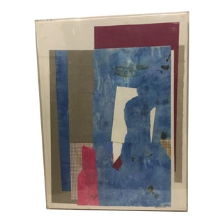 1983 Abstract Collage Signed Mitzi Levin For Sale