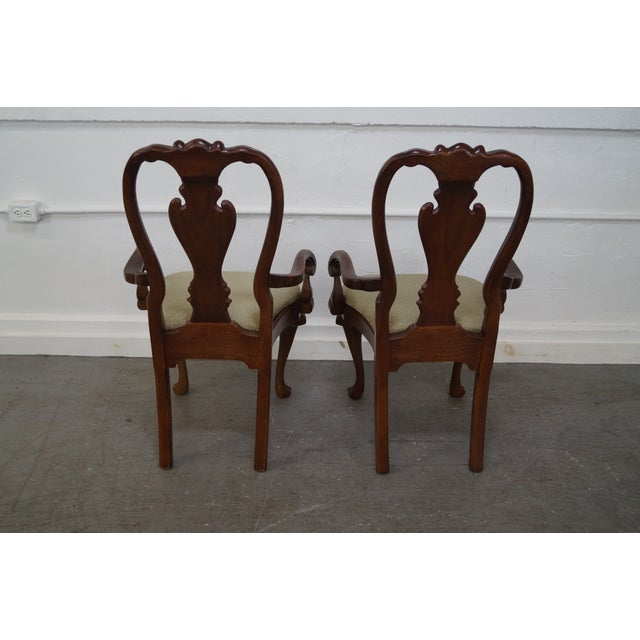Walnut Georgian Queen Anne Dining Chairs - 6 - Image 7 of 10