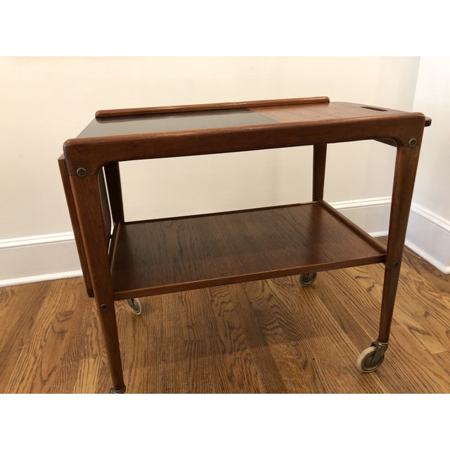 1960s 1960's Mid-Century Modern Wooden Bar Cart For Sale - Image 5 of 9