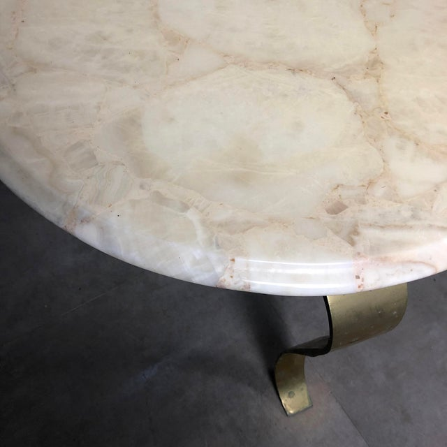 Pair Muller's Onyx & Brass End Tables, 1960's For Sale - Image 9 of 11