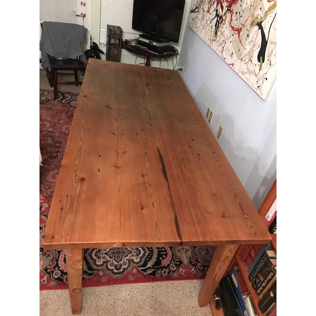 Antique Pine Farm French Table For Sale - Image 11 of 13