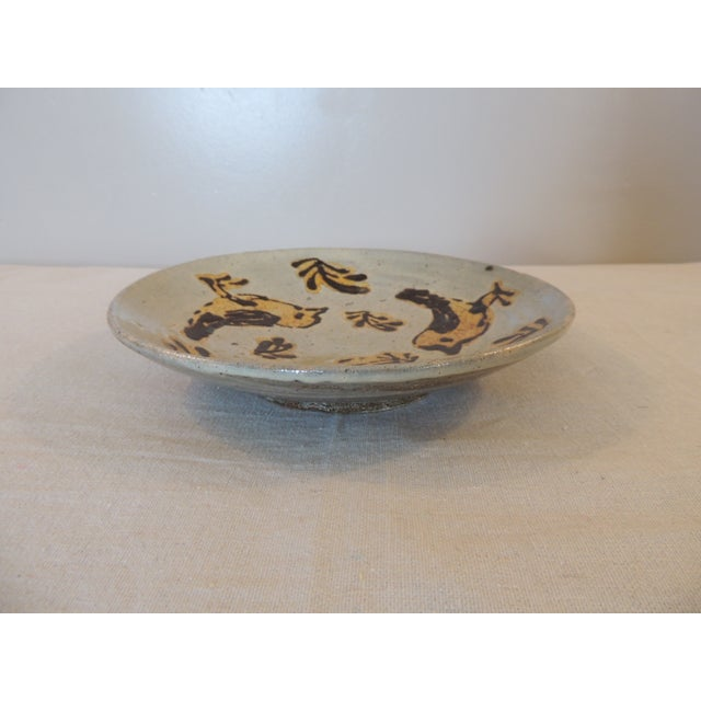 Mid-Century Modern Style Art Pottery Plate - Image 3 of 4