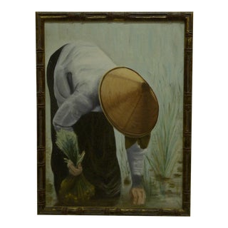 """Working the Rice Paddy"" Painting"