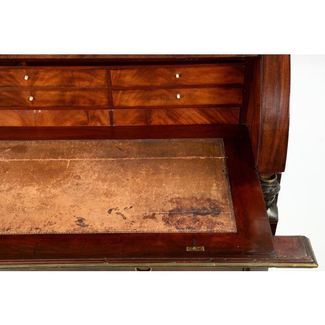 Animal Skin French Empire Mahogany Secretary Desk by Jean-Joseph Chapuis Circa 1805 For Sale - Image 7 of 10