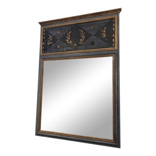 Handmade Solid Wood Trumeau Mirror For Sale