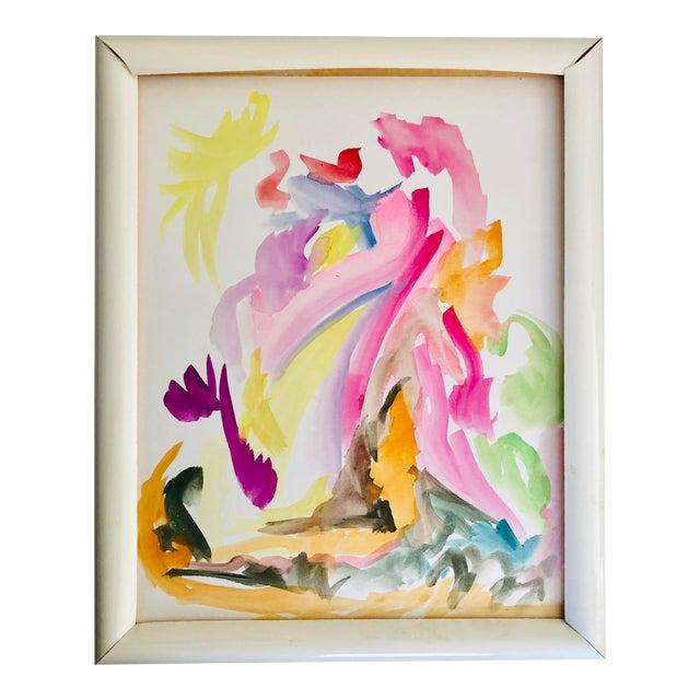 Abstract Landscape Original Watercolor 8x10 Erik Sulander For Sale