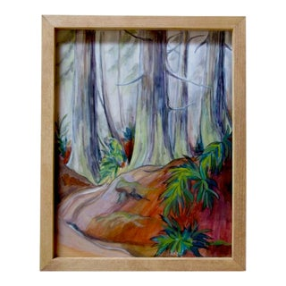 """""""Cedar Stand"""" Framed Oil Landscape Painting For Sale"""