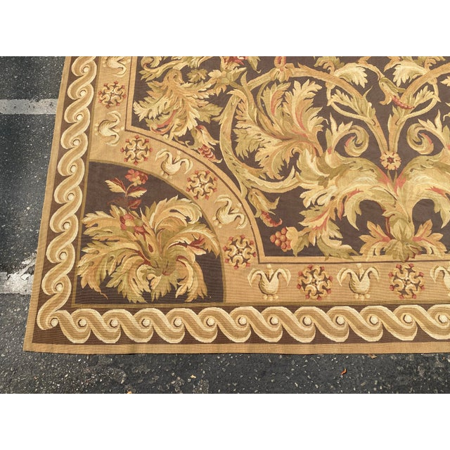 Fine French Aubusson Needle Point Rug For Sale - Image 4 of 6