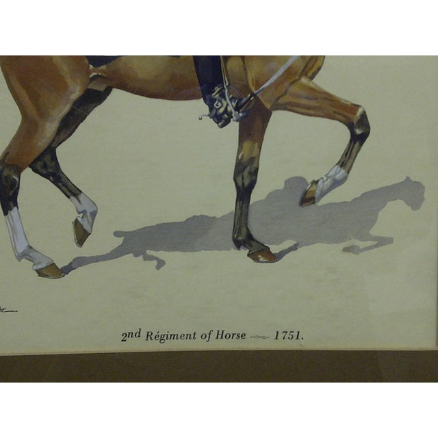"Figurative ""2nd Regiment of Horse - 1751"" Framed & Matted Color Print For Sale - Image 3 of 5"