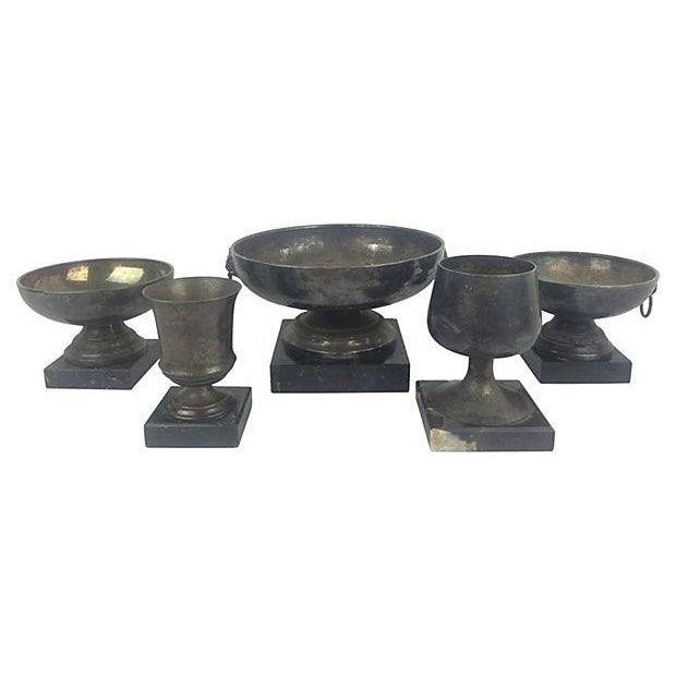English Trophies & Marble Bases - Set of 5 - Image 2 of 2