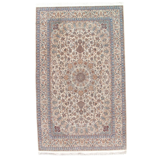 "Pasargad N Y Persian Nain Silk & Wool Rug - 6'9"" X 11' - Image 1 of 2"