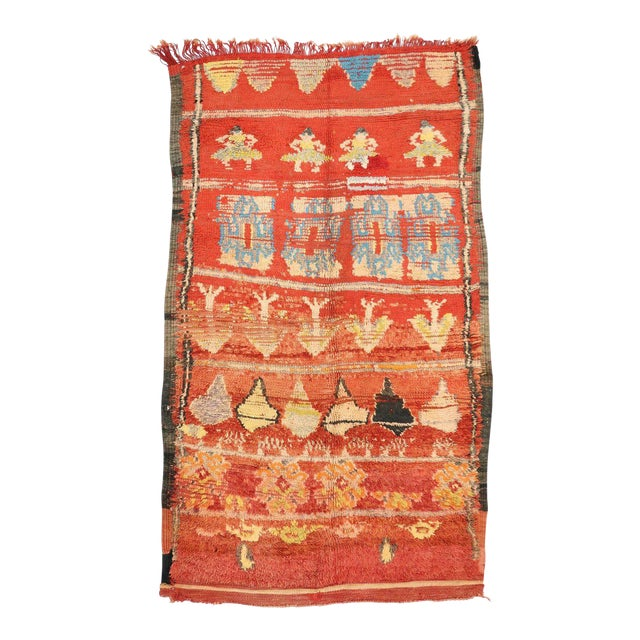 Vintage Berber Moroccan Rug with Tribal Style - Image 1 of 4