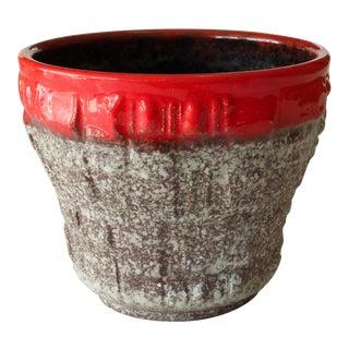 1970s Fat Lava Ceramic Planter For Sale