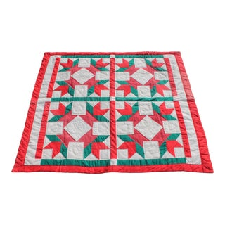 Star Crib Quilt Decorated For Sale