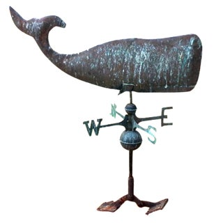 Copper Whale Weathervane