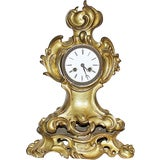 Image of French Bronze Rococo Mantle Clock For Sale
