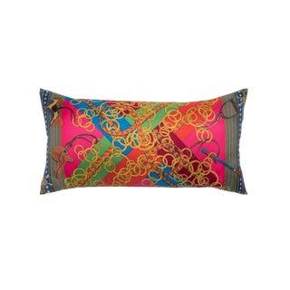"""""""Brides Et Gris-Gris"""" Hermès Silk Scarf Pillow For Sale"""