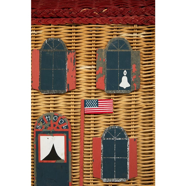 Vintage Schoolhouse Toy Box of Wicker For Sale In Atlanta - Image 6 of 11