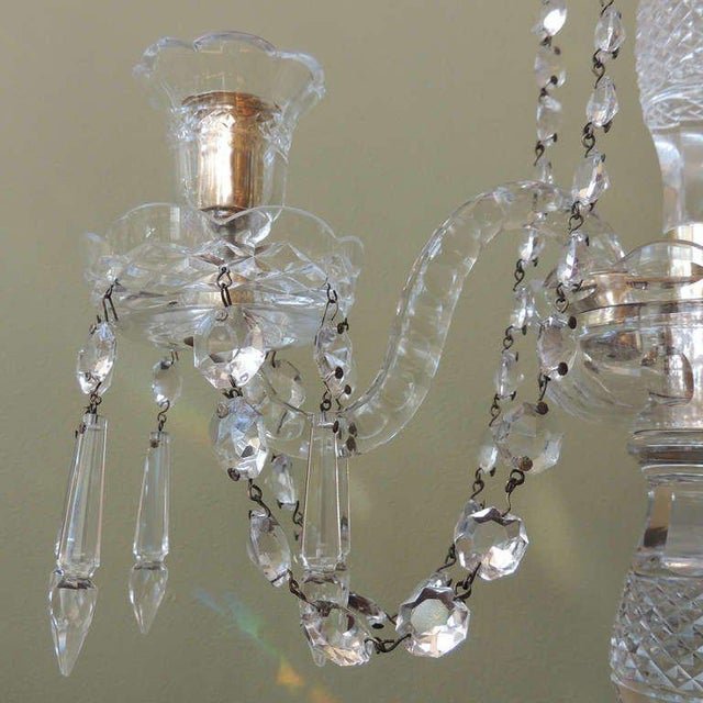 Mid 19th C Anglo-Irish Crystal Girandoles For Sale - Image 4 of 8