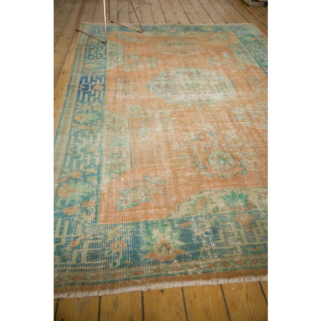 """Vintage Distressed Oushak Carpet - 6'2"""" X 9'8"""" For Sale In New York - Image 6 of 13"""