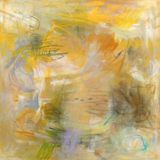 """""""Sunflowers"""" by Trixie Pitts Abstract Oil Painting For Sale"""