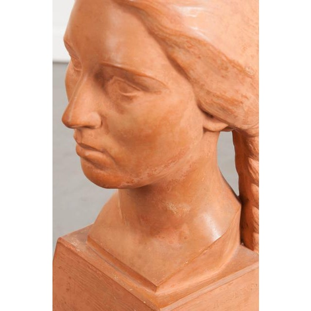 Ceramic French Early 20th Century Terra Cotta Bust by Raymond Couvègnes For Sale - Image 7 of 9