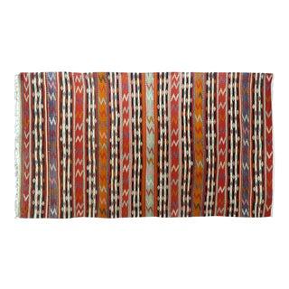 """Vintage Turkish Kilim Striped Rug-5'4'x9'7"""" For Sale"""