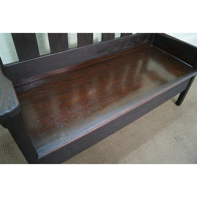 Antique Mission Oak Settee Bench Chairish