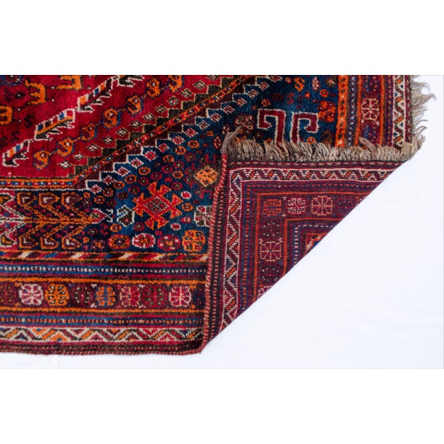"Vintage Persian Shiraz Rug Aram - 5'1""x8'6"" - Image 4 of 5"